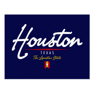 Houston Script Postcard