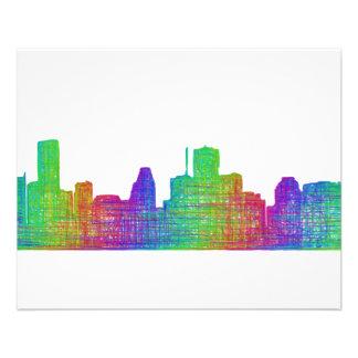 Houston skyline 11.5 cm x 14 cm flyer
