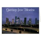 Houston Skyline at Night Card
