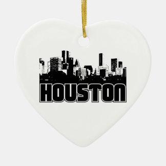 Houston Skyline Christmas Ornament