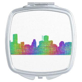 Houston skyline compact mirror