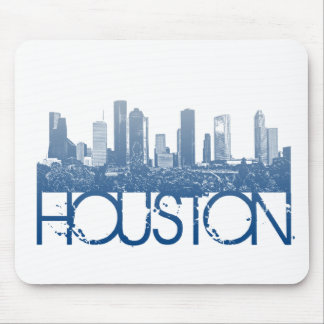 Houston Skyline Design Mouse Mat