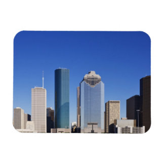 Houston Skyline Rectangular Photo Magnet