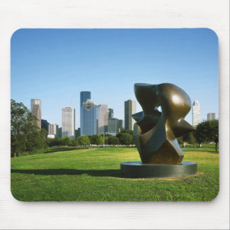 Houston Skyline from Eleanor Tinsley Park, TX Mouse Pad