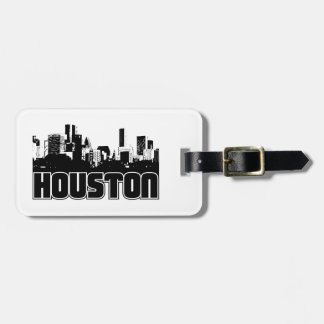 Houston Skyline Luggage Tag