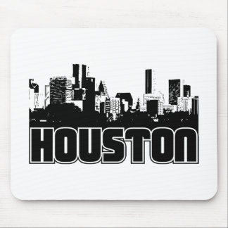 Houston Skyline Mouse Pad