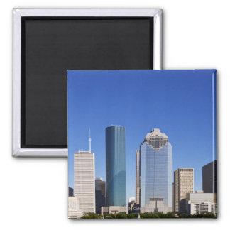 Houston Skyline Square Magnet