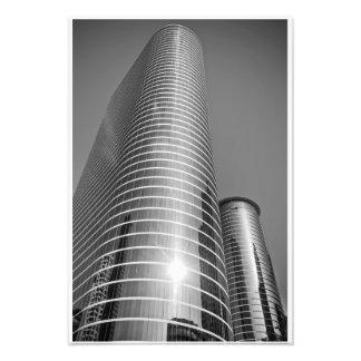 Houston Skyscraper in Black and White Photo Print