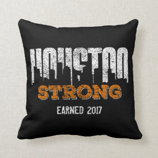 Houston Strong Personalized Black Cushion