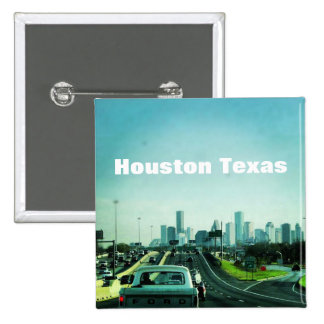 Houston Texas (Button) 15 Cm Square Badge