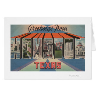 Houston, Texas - Large Letter Scenes Cards