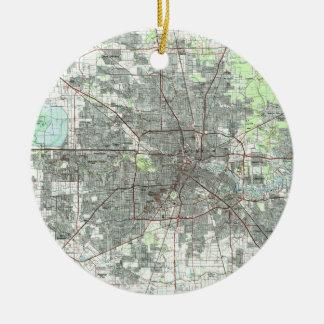 Houston Texas Map (1992) Christmas Ornament