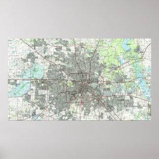 Houston Texas Map (1992) Poster