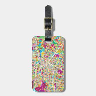 Houston, Texas | Neon Map Luggage Tag