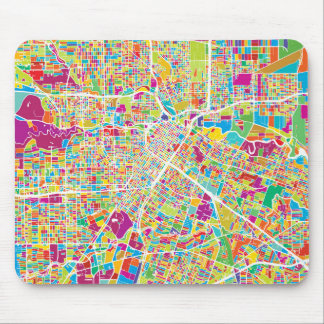 Houston, Texas | Neon Map Mouse Mat