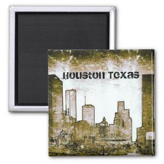 Houston Texas Skyline Art (Magnet) Square Magnet