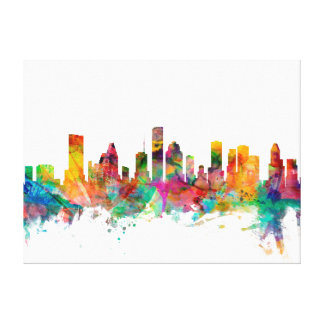 Houston Texas Skyline Canvas Prints