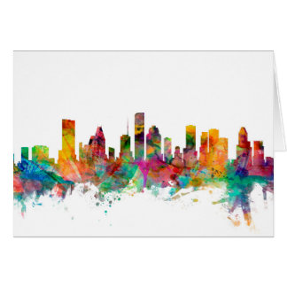 Houston Texas Skyline Card