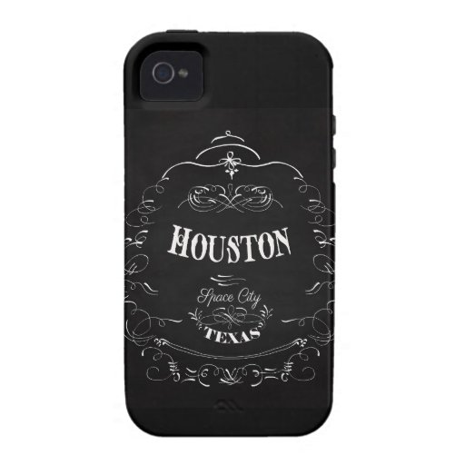 Houston, Texas - Space City Case-Mate iPhone 4 Covers