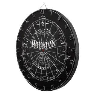 Houston, Texas - Space City Dartboard With Darts