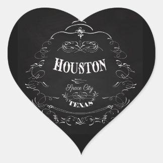Houston, Texas - Space City Heart Sticker