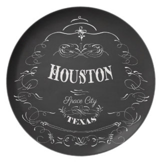 Houston, Texas - Space City Party Plate