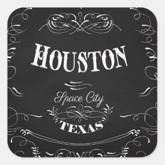 Houston, Texas - Space City Square Sticker