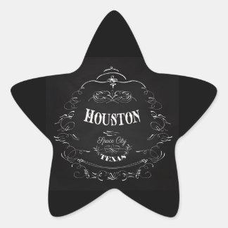 Houston, Texas - Space City Star Sticker