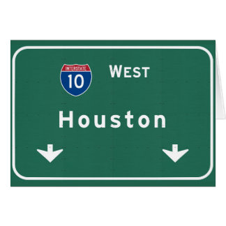 Houston Texas tx Interstate Highway Freeway Road : Greeting Card