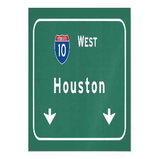 Houston Texas tx Interstate Highway Freeway Road : Magnetic Invitations
