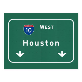 Houston Texas tx Interstate Highway Freeway Road : Postcard