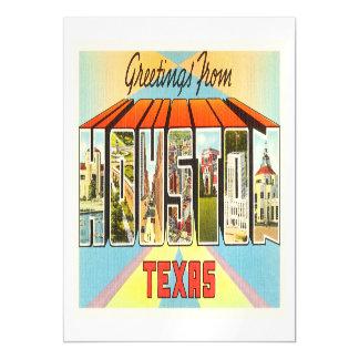 Houston Texas TX Old Vintage Travel Souvenir Magnetic Invitations