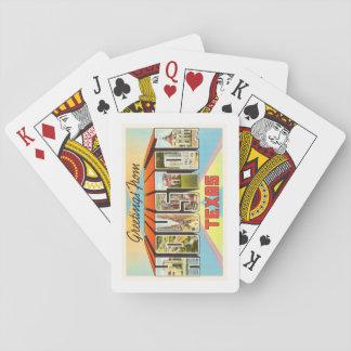 Houston Texas TX Old Vintage Travel Souvenir Playing Cards