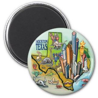Houston TX 6 Cm Round Magnet