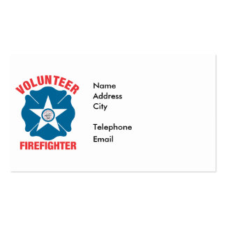 Houston, TX Flag Volunteer Firefighter Cross Pack Of Standard Business Cards