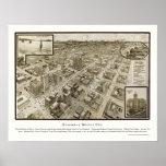 Houston, TX Panoramic Map - 1912 Poster