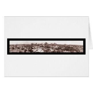 Houston TX Panoramic Photo 1924 Greeting Card