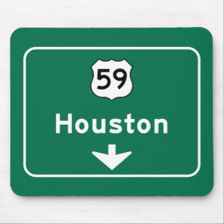 Houston, TX Road Sign Mouse Pad