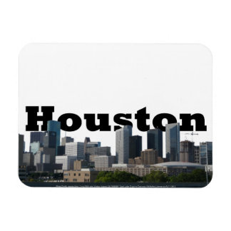 Houston TX Skyline Magnet with Houston in the Sky