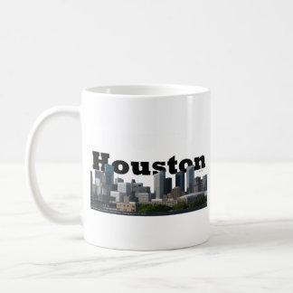 Houston, TX Skyline with Houston in the Sky Basic White Mug