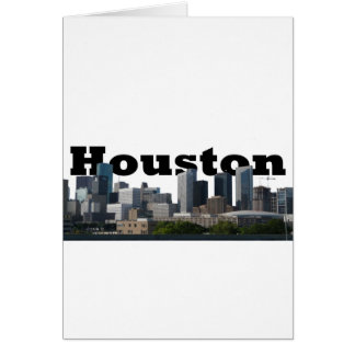 Houston, TX Skyline with Houston in the Sky Greeting Card