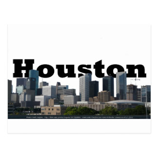 Houston, TX Skyline with Houston in the Sky Postcard