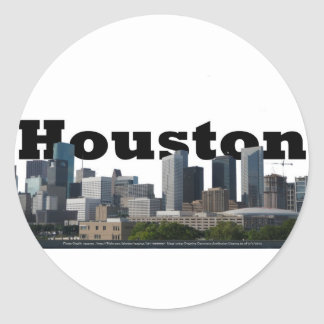 Houston, TX Skyline with Houston in the Sky Round Sticker