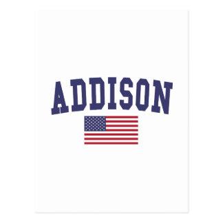 Houston US Flag Postcard