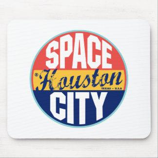 Houston Vintage Label Mouse Pad