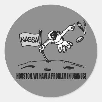 HOUSTON WE HAVE A PROBLEM CLASSIC ROUND STICKER