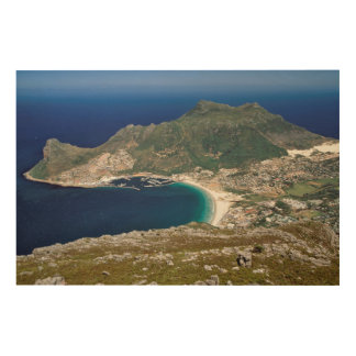 Hout Bay, The Sentinel And Atlantic Ocean Wood Canvas