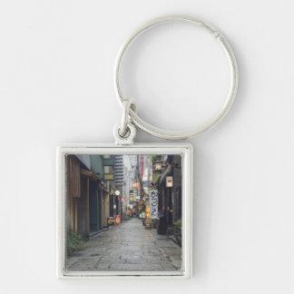 Houzenji Row Silver-Colored Square Key Ring
