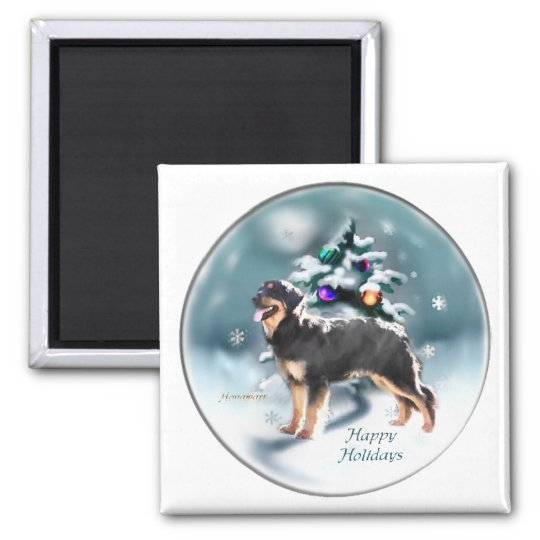 Hovawart Christmas Gifts Square Magnet
