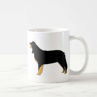 hovawart color silhouette coffee mug